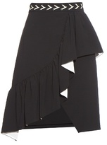 Preen by Thornton Bregazzi Taylor ruffle-trimmed crepe skirt