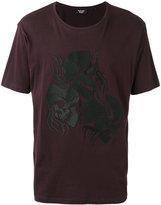 The Kooples flaming skull T-shirt - men - Cotton - L