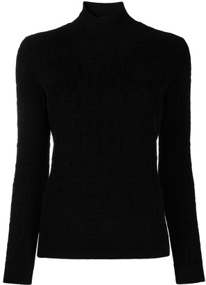 Fendi FF jacquard high-neck jumper