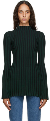 Kenzo Green Ribbed Turtleneck
