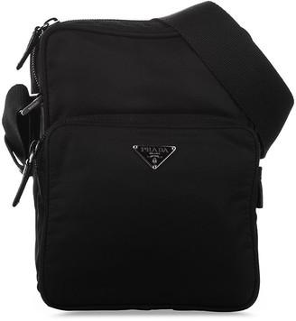 Prada Pre-Owned Triangle Plaque Crossbody Bag