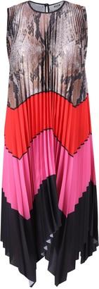 MSGM Colour-Block Pleated Dress