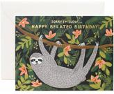Rifle Paper Co. Sloth Birthday Card