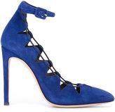 Giuseppe Zanotti Design Flora Suede pumps - women - Leather - 35