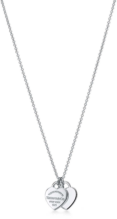Tiffany & Co. Return to TiffanyTM mini double heart tag pendant in sterling silver