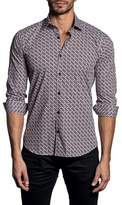 Jared Lang Trim Fit Geometric Sport Shirt