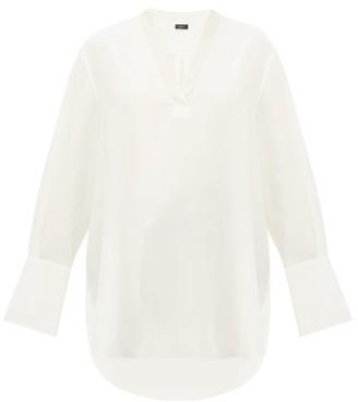 Joseph Miller V-neck Silk Blouse - Womens - Ivory