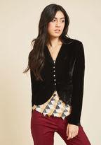 Upwardly Noble Velvet Blazer in M