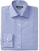 Lauren Ralph Lauren Men's Warren Classic-Fit Non-Iron Royal White Houndstooth Dress Shirt