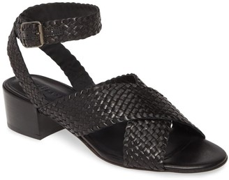 Freda Salvador Patina Woven Ankle Strap Sandal