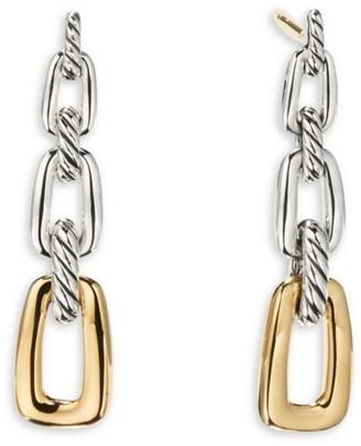 David Yurman Wellesley 18K Yellow Gold & Sterling Silver Drop Earrings