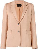 Tom Ford single breasted jacket - women - Silk/Cotton/Spandex/Elastane/Viscose - 40