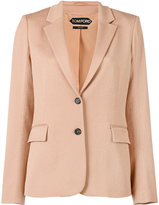 Tom Ford single breasted jacket - women - Silk/Cotton/Spandex/Elastane/Viscose - 42