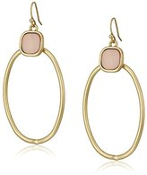 "Kenneth Cole New York Tectonic Plates"" Shell Oval Gypsy Hoop Earrings"