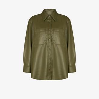 Frankie Shop Yoyo vegan leather shirt