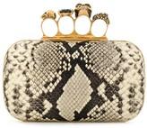 Alexander McQueen snakeskin effect four ring box clutch