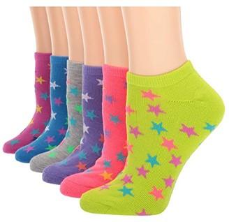 Converse Sport Stars Cushion No Show 6-Pair Pack (Pink/Lilac/Grey/Green/Totally/Fuchsia) Women's No Show Socks Shoes