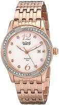 Burgi Women's BUR102RG Rose Gold Quartz Watch with White Dial and Rose Gold Bracelet