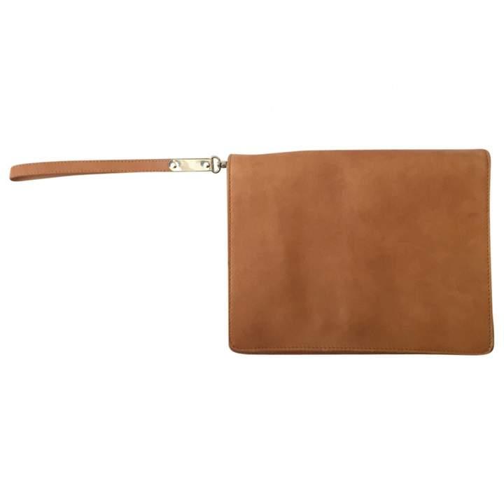Maison Margiela Camel Leather Clutch Bag