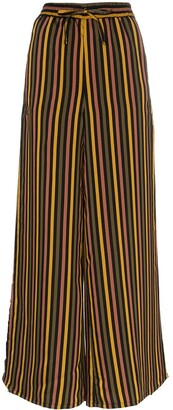 Onia Chloe striped wide leg trousers