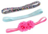 Cat & Jack Girls' Braid, Floral, Star Headband Set 3 pk Cat & Jack - Pink/Grey/Aqua