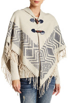 Rampage Fringed Poncho