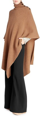 Chloé Wool Poncho Coat