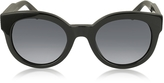Marc Jacobs MJ 588/S Black Touch Round Acetate Women's Sunglasses