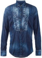 DSQUARED2 distressed denim shirt - men - Cotton/Spandex/Elastane - 50