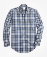 Brooks Brothers Milano Fit Graph Plaid Zephyr Sport Shirt