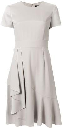 Paule Ka fitted draped detail dress