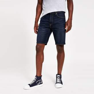 Levi's Mens River Island 502 Taper dark Blue denim shorts