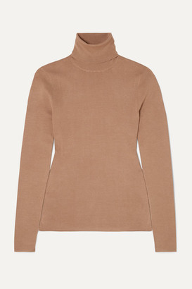 Joseph Silk-blend Turtleneck Sweater - Camel