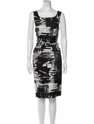 Oscar de la Renta 2012 Knee-Length Dress Wool