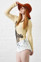 Lauren Moshi Amber Horse Long Sleeve Classic Thermal in Sand