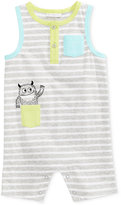 First Impressions Striped Monster Cotton Romper, Baby Boys (0-24 months), Created for Macy's