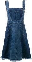 Alexander McQueen denim pinafore dress