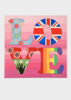 Paul Smith for The Rug Company - Pink Love Needlepoint Wallhanging