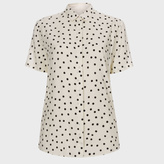 Paul Smith Women's Cream Polka Dot Short-Sleeve Shirt