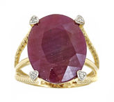 JCPenney FINE JEWELRY LIMITED QUANTITIES Oval Lead Glass-Filled Ruby and Diamond-Accent Ring