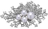 Nina Women's 'Crystal Spray' Crystal & Faux Pearl Brooch