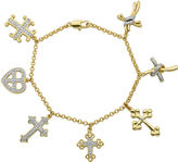 SPARKLE ALLURE Classic Treasures Diamond-Accent Cross Charm Bracelet
