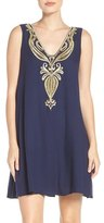 Lilly Pulitzer Owen Embroidered Trapeze Dress