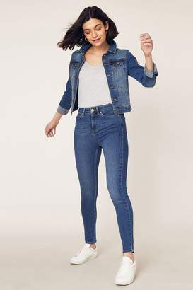 Oasis Womens Blue Lily Skinny Jeans - Blue