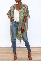 Love Stitch Lovestitch Green Mandala Kimono