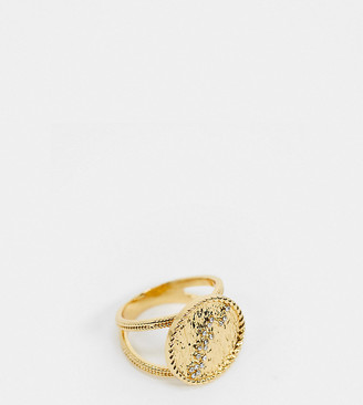 Reclaimed Vintage inspired premium 14k pheonix constellation ring in gold