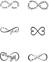 Women's Tattify(TM) 'Chin Up' Temporary Tattoos
