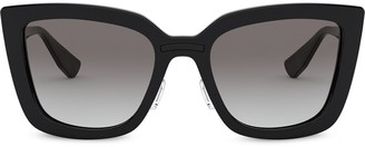 Miu Miu Oversized Cat Eye Frame Sunglasses