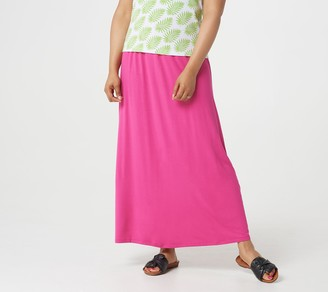 BROOKE SHIELDS Timeless Petite Knit Maxi Skirt with Side Ruching