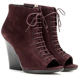 Burberry Virginia Suede Peep-toe Ankle Boots